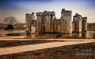 Duo Tone Photograph - Bodiam Castle by Donald Davis