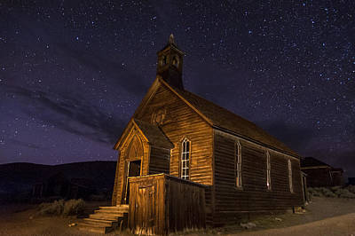Bodie Church Art Print by Cat Connor