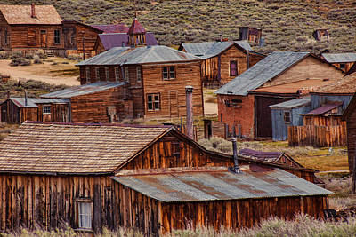 Leaning Building Photograph - Bodie Ghost Town by Garry Gay