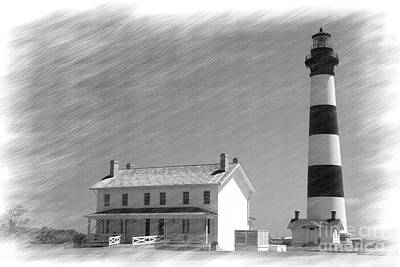 Digital Art - Bodie Island Lighthouse by Jill Lang