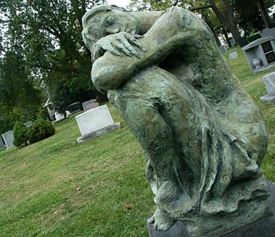 Photograph - Boehler Grave Sculpture by Cora Wandel
