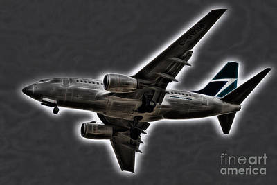 Photograph - Boeing 737 by Les Palenik