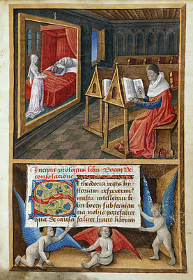 Boethius And Philosophy Art Print by British Library
