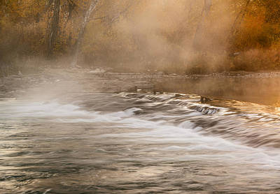 Fog Rising Photograph - Boise River Autumn Morning by Vishwanath Bhat