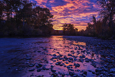 Boise River Sunrise Art Print