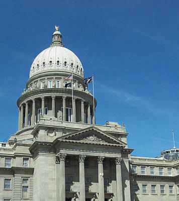 Photograph - Boise State Capitol Dome by Georgia Hamlin