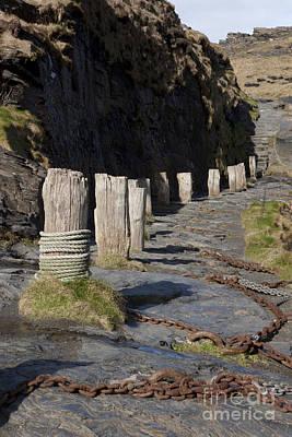 Photograph - Bollard And Chain  by Paul Felix