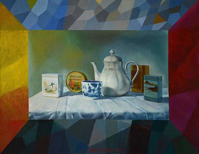 Teapot Painting - Bonbons by Jukka Nopsanen