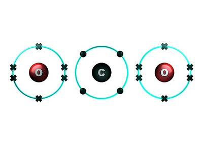 Atom Photograph - Bond Formation In Carbon Dioxide Molecule by Animate4.com/science Photo Libary