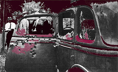 Reptiles - Bonnie And Clyde Death Car South Of Gibsland Toward Sailes Louisiana May 23 1933-2013 by David Lee Guss