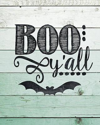 Halloween Sign Painting - Boo Y'all by Jo Moulton