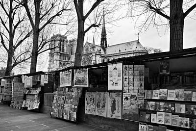 Photograph - Book Sellers By The Seine / Paris by Barry O Carroll