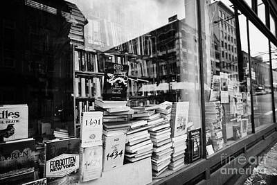 books in the window of a used book store Vancouver BC Canada Art Print by Joe Fox