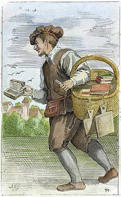 Bookseller, 1646 Art Print