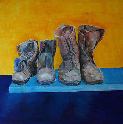 Painting - Boots by David  Hawkins