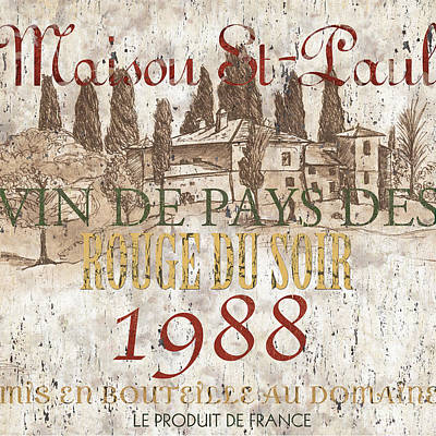 Bordeaux Blanc Label 1 Art Print
