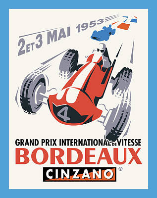 Digital Art - Bordeaux Racing by Gary Grayson