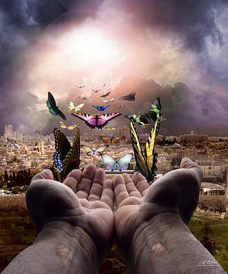 Digital Art - Born Again Israel by Bill Stephens
