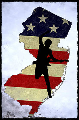 Bruce Springsteen Digital Art - Born In New Jersey by Bill Cannon