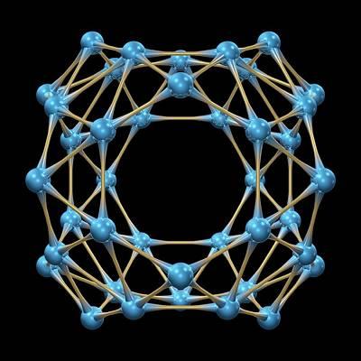 Molecule Photograph - Borospherene Molecule by Dr Mark J. Winter