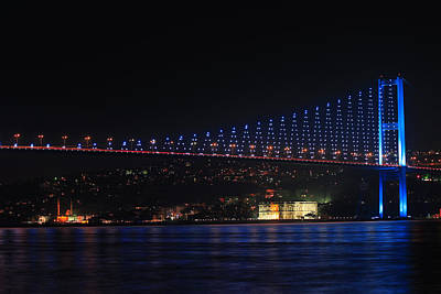 Night Photograph - Bosphorus Bridge by Ugur Ugurlu