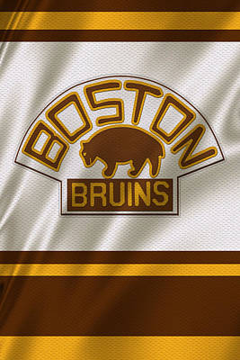 Boston Bruins Uniform Art Print by Joe Hamilton