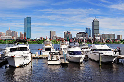 Photograph - Boston Cityscape by Songquan Deng