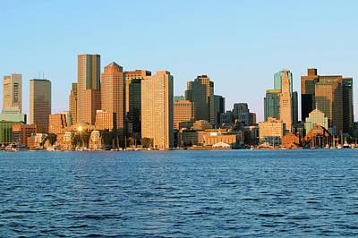 Boston Harbor And The Boston Skyline Art Print
