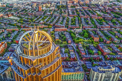 Digital Art - Boston Rooftops by Liz Leyden