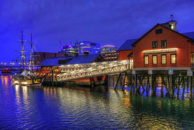 Gas Lamp Photograph - Boston Tea Party Museum by Joann Vitali