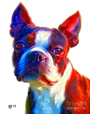 Buy Dog Art Digital Art - Boston Terrier Art by Iain McDonald