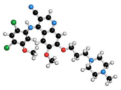 Molecule Photograph - Bosutinib Leukemia Drug Molecule by Molekuul
