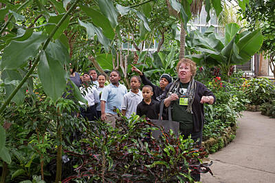 Belle Isle Photograph - Botanical Greenhouse School Trip by Jim West