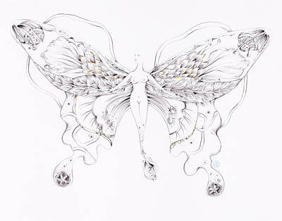 Drawing - Botanicalia Sara by Karen Robey