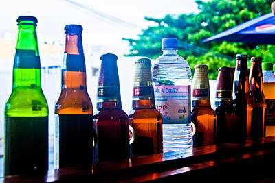Photograph - Bottles by Norchel Maye Camacho