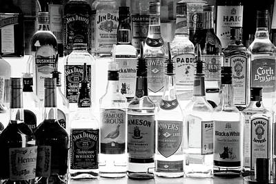 Of Liquor Photograph - Bottles Of Liquor, De Luans Bar by Panoramic Images