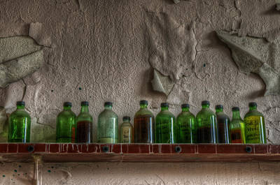 Digital Art - Bottles On The Wall by Nathan Wright