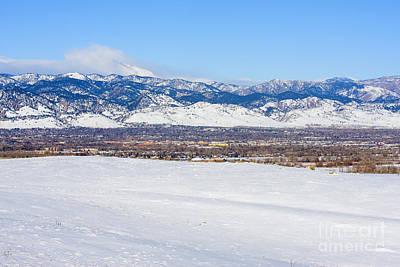 University Of Boulder Colorado Photograph - Boulder Colorado by Steve Krull