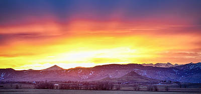 Photograph - Boulder County Haystack Rocky Mountain Sunset by James BO  Insogna
