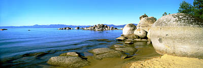 Clear Sky Photograph - Boulders At The Coast, Lake Tahoe by Panoramic Images