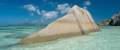 Source Photograph - Boulders On The Beach, Anse Source by Panoramic Images