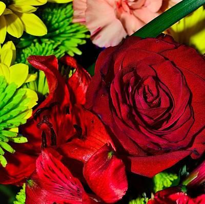 Photograph - Bouquet-of-flowers 6 by Richard Zentner