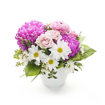 Bouquet Of Flowers Art Print by Elena Elisseeva