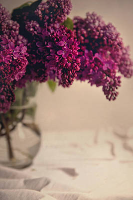 Bouquet Of Fresh Lilacs Art Print by Jaroslaw Blaminsky