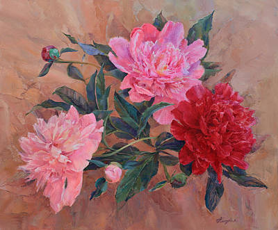 Painting - Bouquet Of Peonies by Galina Gladkaya