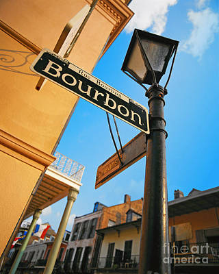 Photograph - Bourbon Street In New Orleans by Larry Mulvehill