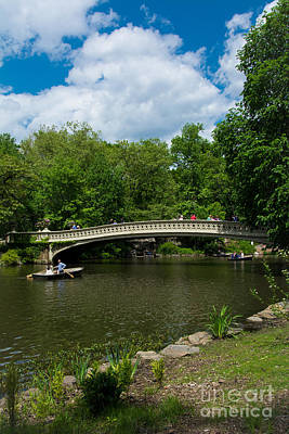 Summertime Photograph - Bow Bridge Central Park by Amy Cicconi
