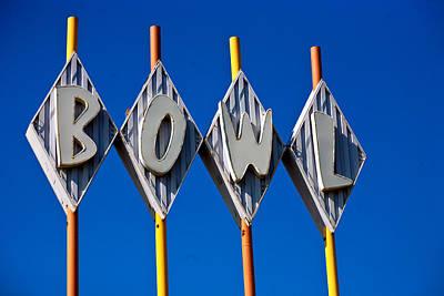 Neon Photograph - Bowl by Matthew Bamberg