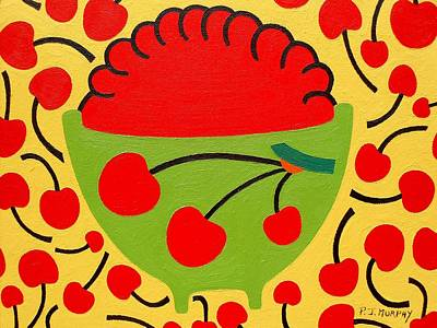 Homedecor Painting - Bowl Of Cherries by Patrick J Murphy
