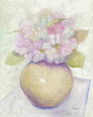 Painting - Bowl Of Hydrangeas by Marlene Book
